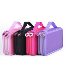 35 Holders 2 Layer Cute School Pencil Case For Girls Boys Zipper Big Capacity Painting Colored Pencil Bag Box Art Supplies large capacity 120 holders 4 layer portable school pencils case canva colored pencil bag school astuccio for gifts art supplies