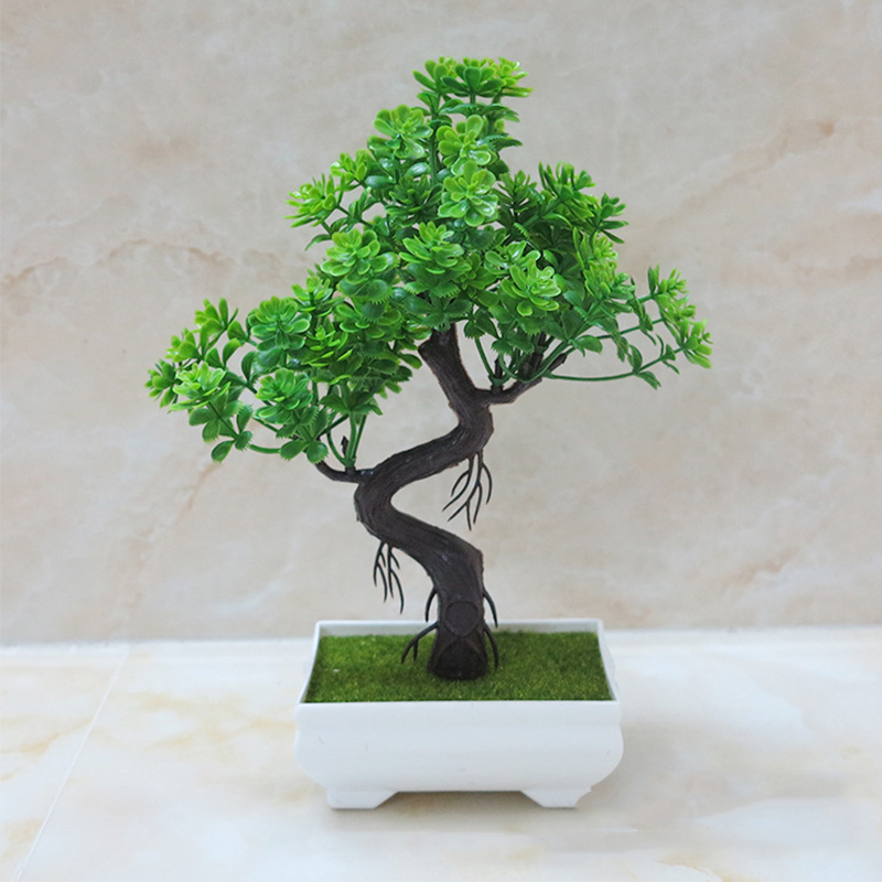 Potted Bonsai Artificial Plant Fake Trees Plant Green/Purple/Orange/Yellow/Red for Home Christmas Office Decoration A5740