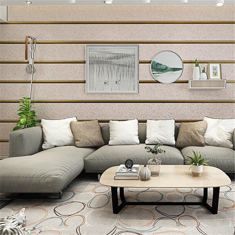 beibehang Modern simple horizontal deerskin non-woven wallpaper 3D three-dimensional living room TV backdrop stripe wall paper beibehang precision pressure 3d three dimensional non woven wallpaper sofa wall paper wallpaper living room bedroom full shop