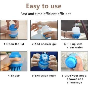 Bath Dog Wash Shower Head Spray Dog Shampoo Dog Bathing Tool Comb Cleaning Bath Massage Cat SPA Brush Multifunction Silicone 6