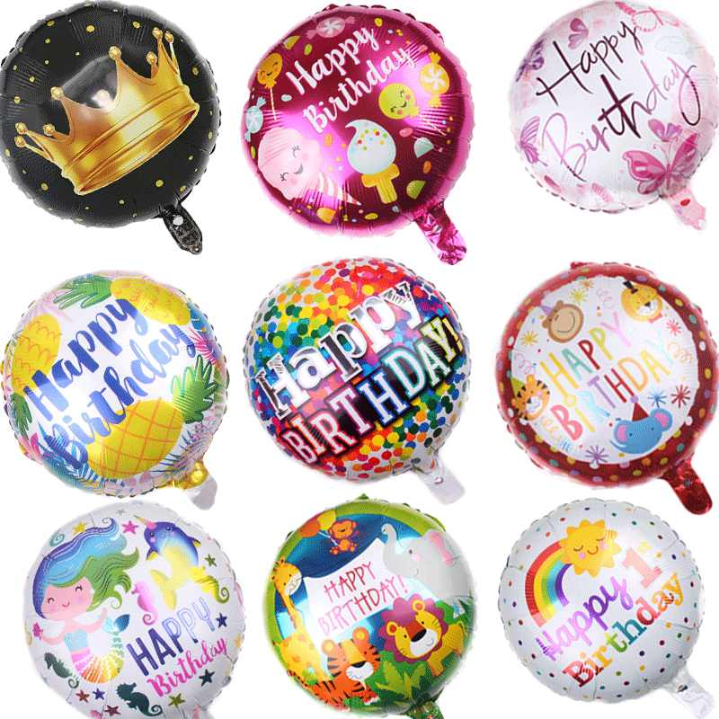 18 Inches Globos Happy Birthday Foil Balloons Baby Shower Inflatable Toys Ballons Helium Round Air Ball Kids Party Favor Decorat