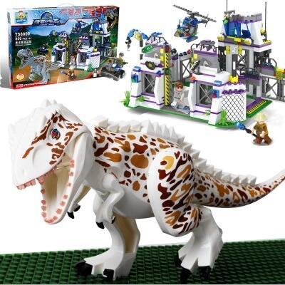 TS8000 Violent Brutal Dinosaur Compatible Legoing Jurassic Dinosaur World Indominus Rex Breako Bricks Building Block Toys 6 8 16 24pcs set jurassic dinosaur world 2 figure building block bricks toy tyrannosaurus rex compatible with legoing dinosaur