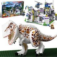 TS8000 Violent Brutal Dinosaur Indominus Rex Breako Jurassic Dinosaur World 826pcs Bricks Building Block Toys Gift
