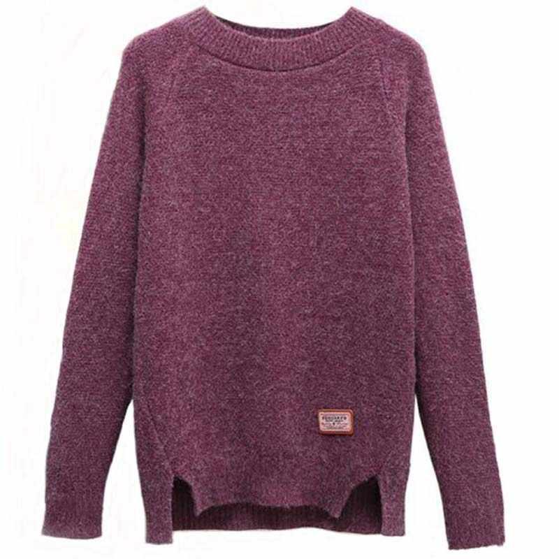 2018 jerseys y Pullovers de mujer Otoño Invierno de manga larga Pull Femme sólido Pullover femenino Casual tejido suéter ss3996