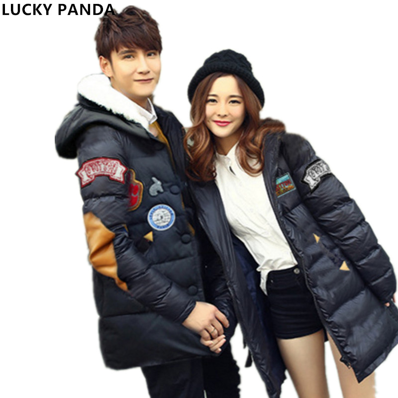 Lucky Panda 2016 Couple winter clothes and long sections coat,Fashion lovers Slim Down thick padded warm coat LKP271 lucky panda 2016 the new winter coat and female slim in the long and small lattice fragrant cotton lkp243