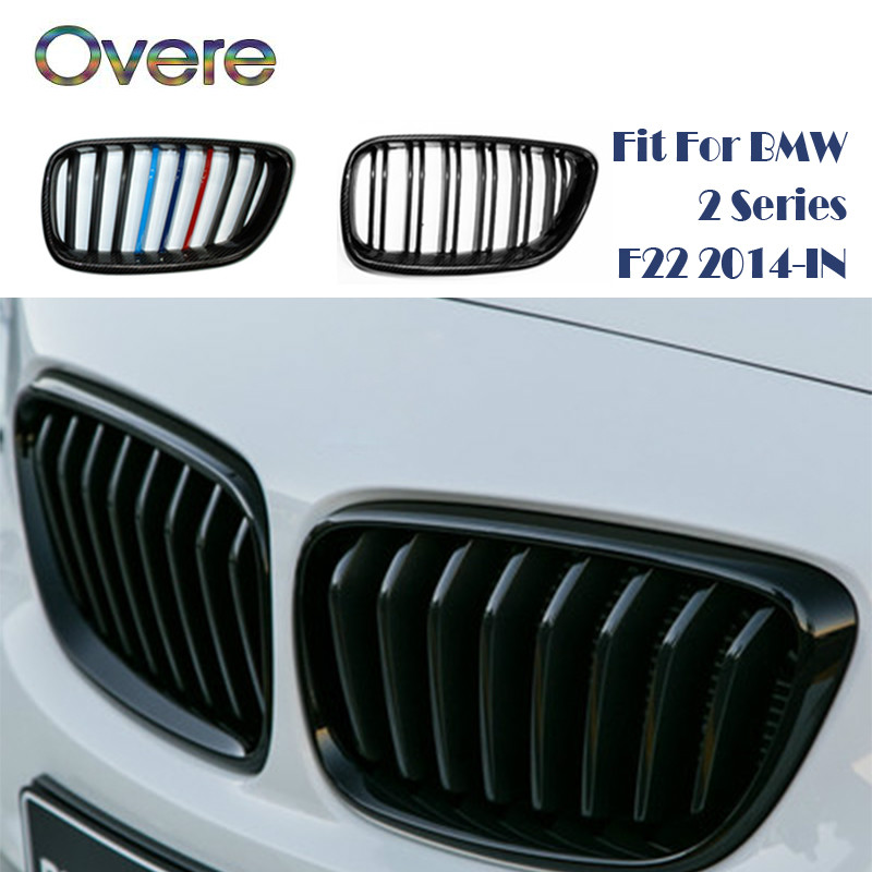 Overe Car Front Bumper Racing Grills Grilles For BMW 2 Series F22 F23 F87 M2 220i 228i M235i M240i M Performance Accessories image