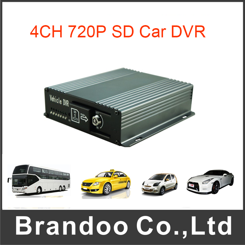 Low Cost 4CH SD DVR For Vehicles Fleet School Bus Support Mobile DVR simple low cost electronics projects
