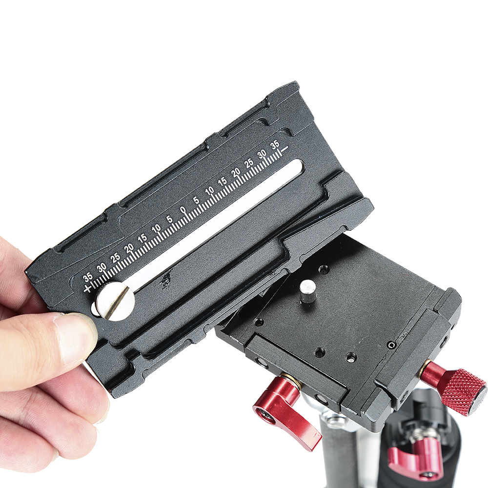 Mini stabilisateur portatif d'appareil-photo tenu dans la main de Fiber de carbone pour des appareils photo de DSLR - 2
