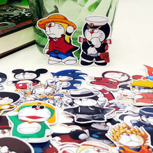 40pcs/bag Doraemon cosplay Cartoon style album Scrapbook waterproof decoration stickers DIY Handmade Gift Scrapbooking sticker