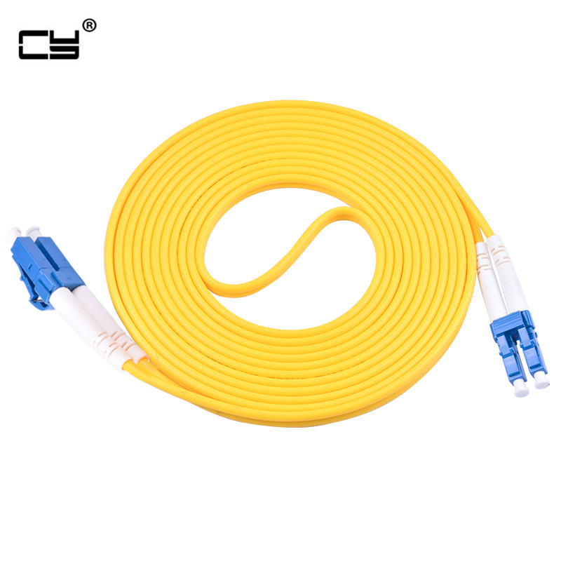 3M//10ft Fiber Optic Single-Mode Duplex Patch Cable Jumper Cord ST to LC Yellow