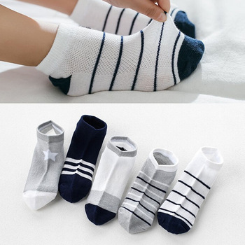 10Pcs/5Pairs Youngsters Sock Breathable Sports activities Women Boys Sokcs Unisex Cotton Stripe Chaussette Enfant Garcon Skarpetki Dla dzieci