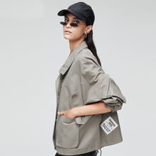2019 New Trench Coat Autumn Women Solid Short Loose Casual Big For High Quality Female Overcoat
