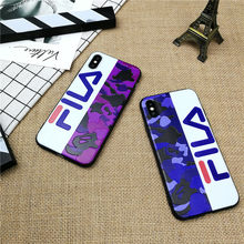 Camo Italy Sport phone cover case for iPhone X XS MAX XR 10 8 7 6 6S plus cases matte 3D relief soft silicone Couple coque funda(China)