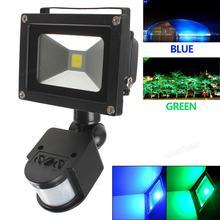 Waterproof 20W PIR Infrared Body Motion Sensor LED Flood Lamp AC 85-265V Green / Blue Light