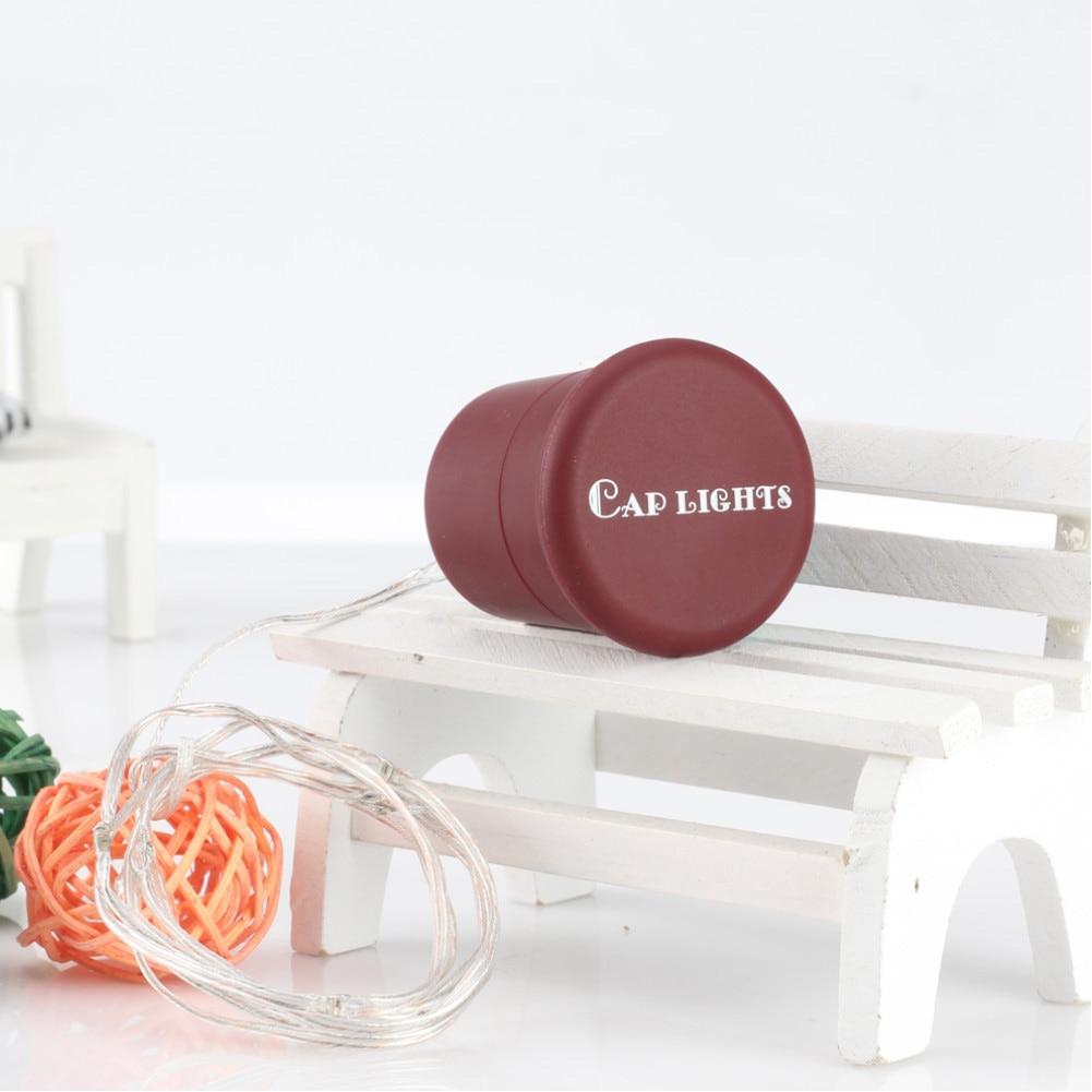Christmas Garland Home Decor Multicolor Wine Bottle Cap Light 3 Mode Cork Shaped Fairy String Light JDH99