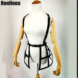 Image 3 - Sexy Lingerie Leather Harness Dress For Women Gothic Skirt Fetish Body Strap Waist Bondage Belt Sex Erotic Breast Cage Sexual