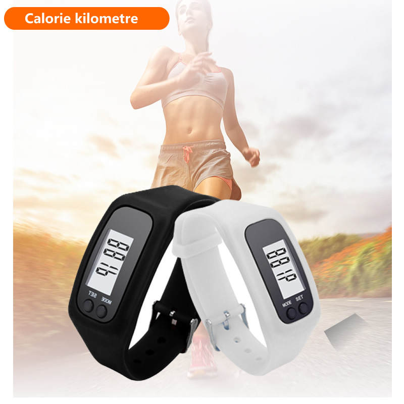все цены на Casual Digital LCD Pedometer run step walking distance calorie counter watch bracelet fashion men women sports Led watches в интернете