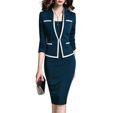 Ladies Blazer Suits Dress Jacket 2019 Women Clothes Two-Piece Sets Slim Fit Frock For Office Wear Special Occasion Dresses