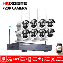 CCTV System 720P 8CH HD Wireless kit Night Vision IP Camera wifi CCTV Camera kit Home Security System video Surveillance 1.0MP