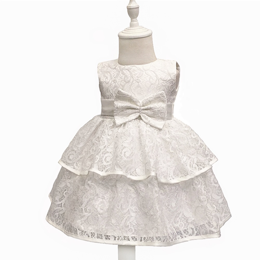 High Quality LACE Toddler Girls Baby Girl Princess Dress Flower Lace Princess Children Bridemaid Dress For Wedding Girls Party