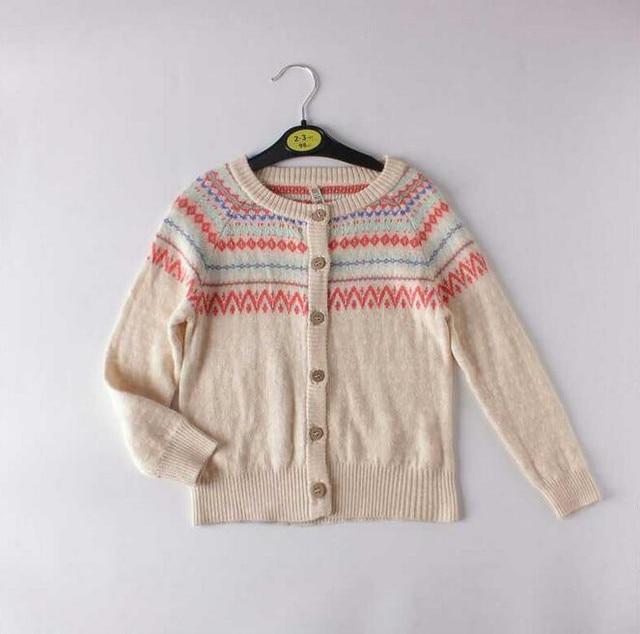 R30 2016 New Spring Baby Girl Cardigan Geometric Lolita Girl Knitting Sweatercoat Girl Clothes