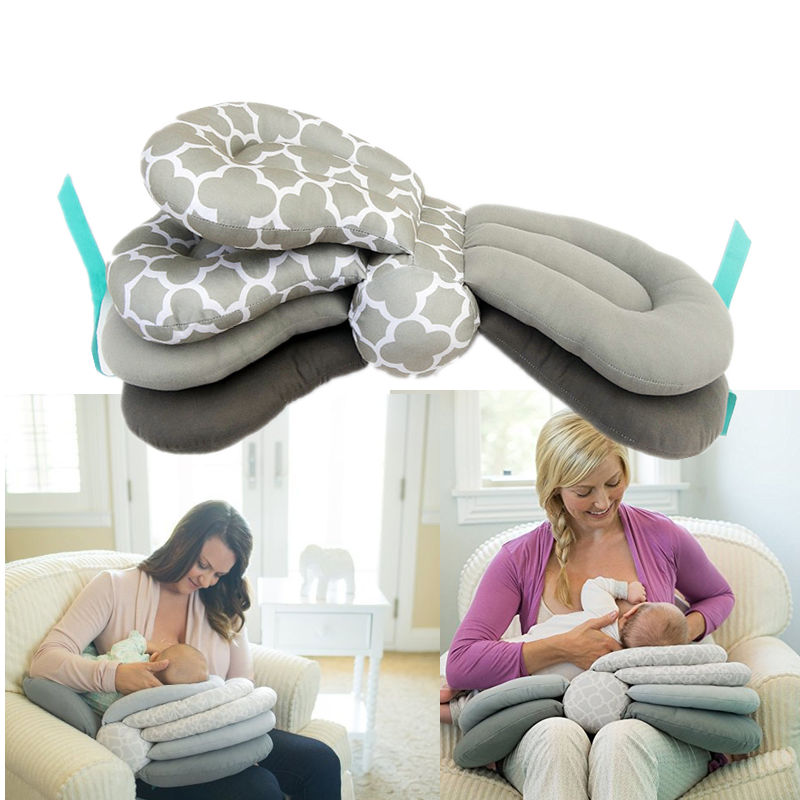 Baby Nursing Pillows Maternity Baby Breastfeeding Pillows Layered Adjustable Nursing Cushion Newborn Feeding Pillow For Nursing
