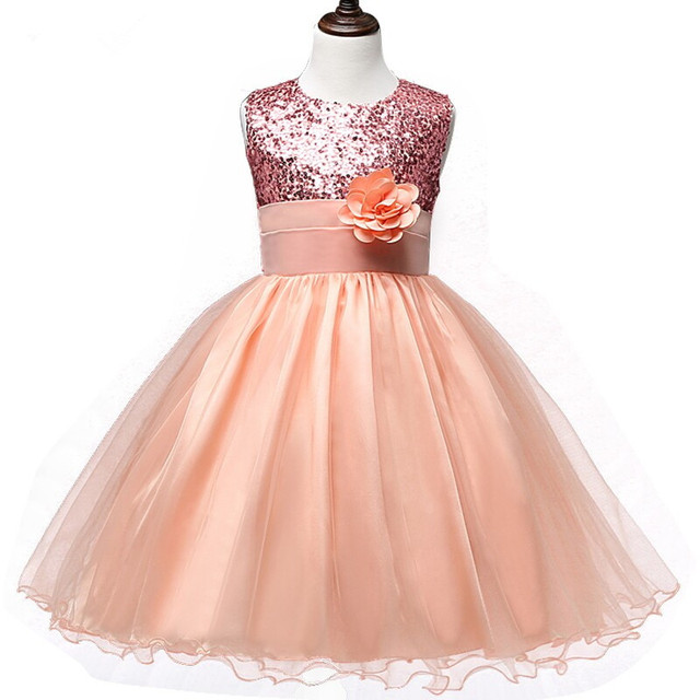 4bdcd9d581d0 0 12 Years Hot Selling Baby Girls Flower Sequins Dress High quality ...
