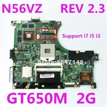 N56VZ GT650M 2 Гб REV 2,3 Материнская плата Asus N56VZ N56VM N56V N56VJ N56VV N56VB Материнская плата ноутбука 60-N9IMB1100-D18 Тесты ОК