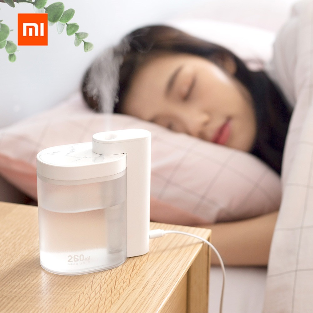 Xiaomi Mijia Youpin SOTHING Household Mute Air Humidifier 260ML Ultrasonic Air Humidifier Purifying Humidifier USB Charging