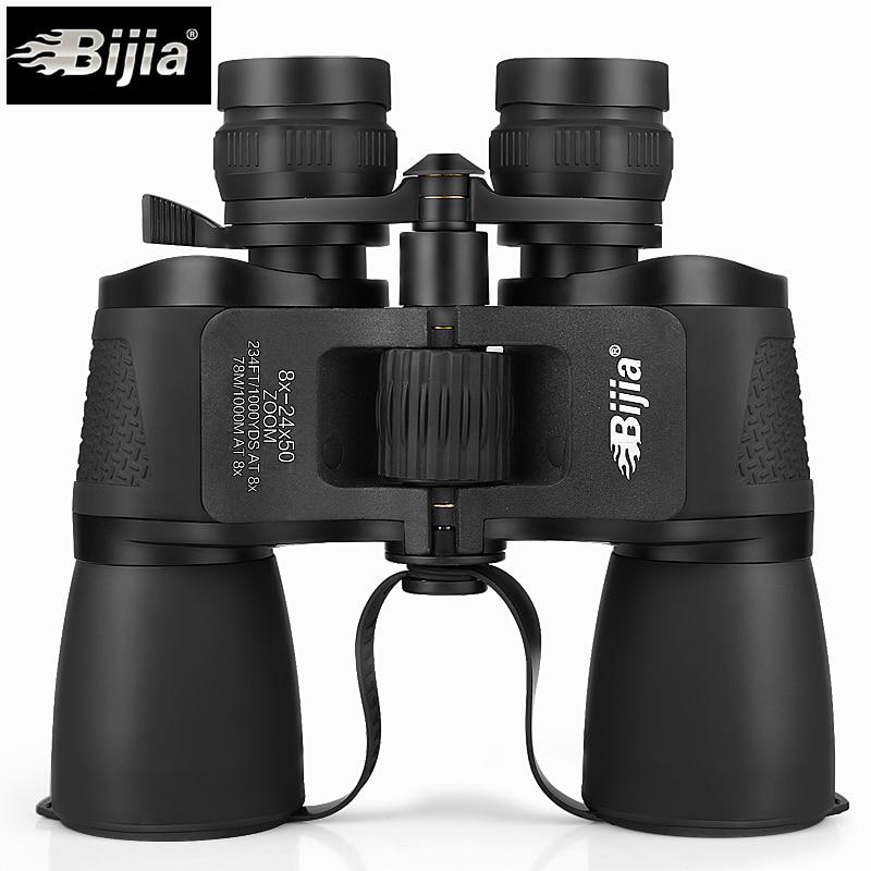 BIJIA 8-24X50 binoculares potentes de alta calidad zoom de larga distancia Telescopio profesional de alta definición de vida a prueba de agua