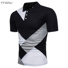 FFXZSJ 2018 New Style Uomo Polo Shirt Casual Homme per Patchwork Uomo Tee Shirt Top misto cotone Slim Fit Estate Polo Shirt