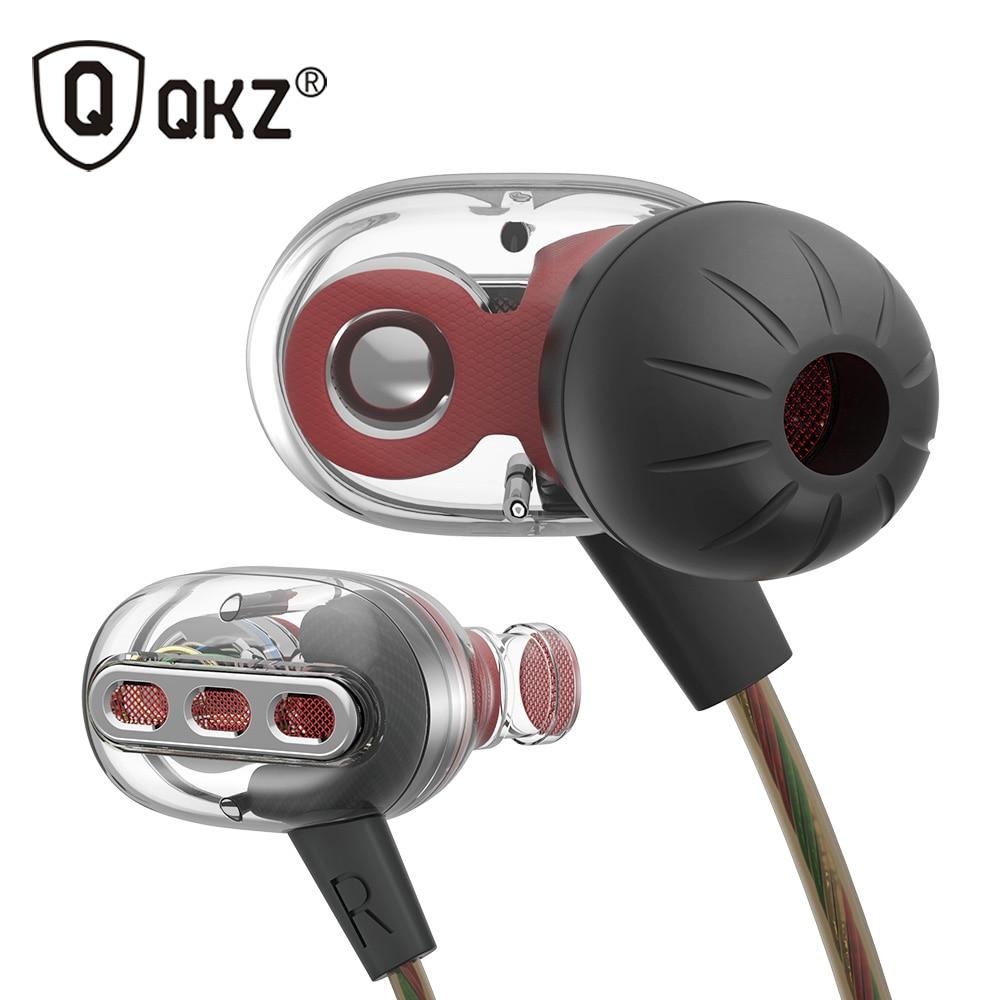 Véritable New Original QKZ KD8 Écouteurs Écouteurs Bruit Isoler fone de ouvido Casque avec Mic pour Earpods Airpods audifonos