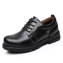 Men Genuine Leather Casual Shoes Leather Brand Men Shoes Work Safety Boots Designer Men Flats Men Work & Safety Shoes