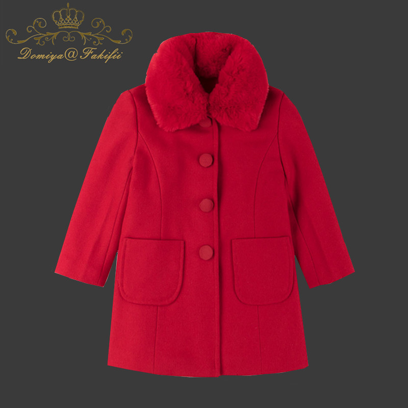 Girls Jacket Woolen Warm Outwear Girls Winter Coat 2018 Brand Kids Winter Jacket Children Clothes for Baby Girl Clothing down winter jacket for girls thickening long coats big children s clothing 2017 girl s jacket outwear 5 14 year