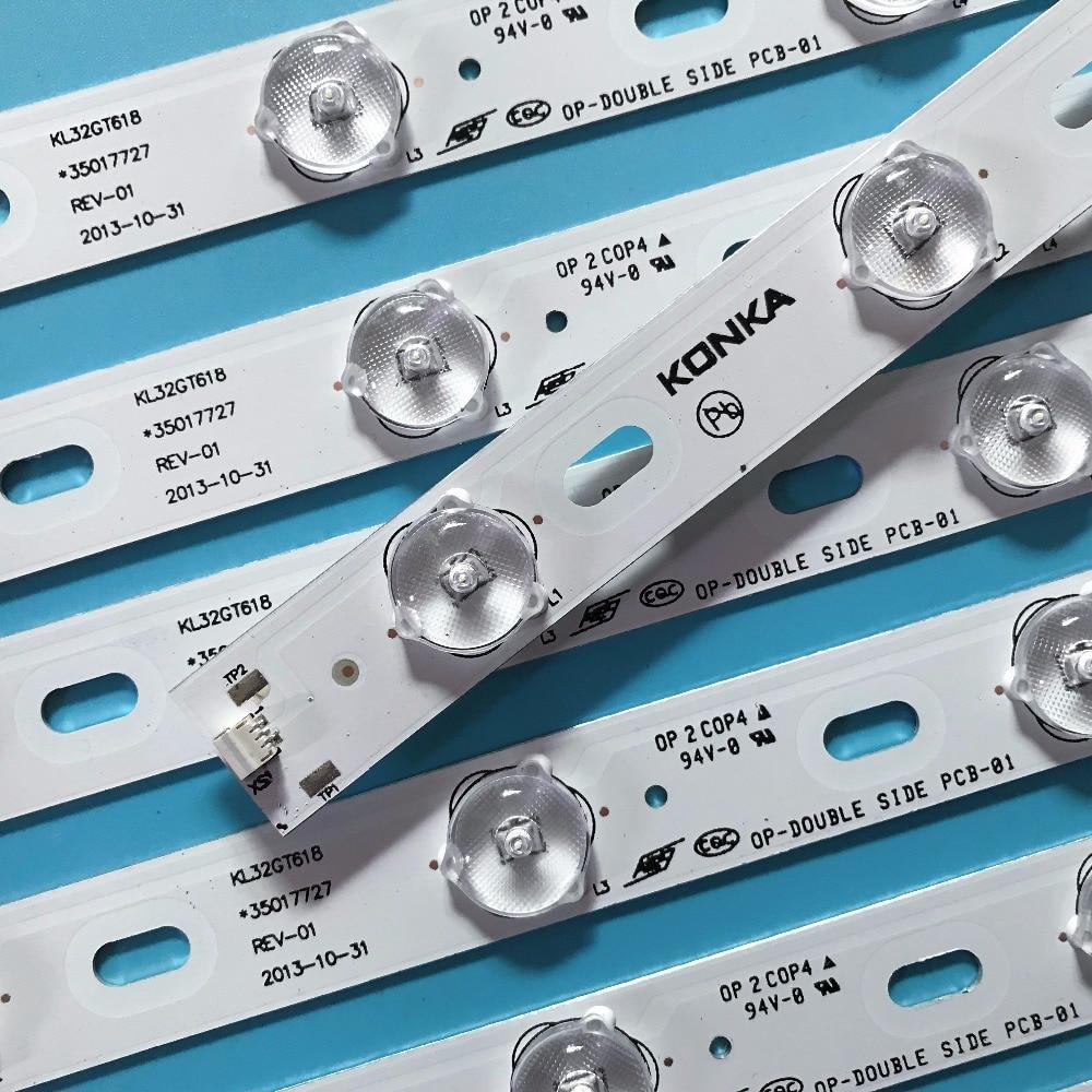 Image 2 - 100%New KONKA KL32GT618 LED backlight 35017727 10leds 64.4cm 1set=2 pieces-in LED Bar Lights from Lights & Lighting
