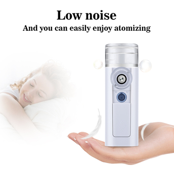 USB Rechargeable Ultrasonic Handheld Inhaler Nebulizer Humidifier Beauty Instrument Suitable For All Ages Facial Steamer
