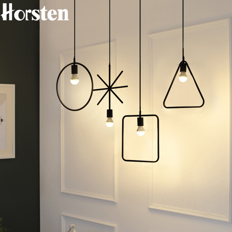 Horsten Vintage Industrial LED Pendant Lamp Loft American Cord Pendant Light Fixtures For Kitchen Bar Clothing Store Coffee Shop
