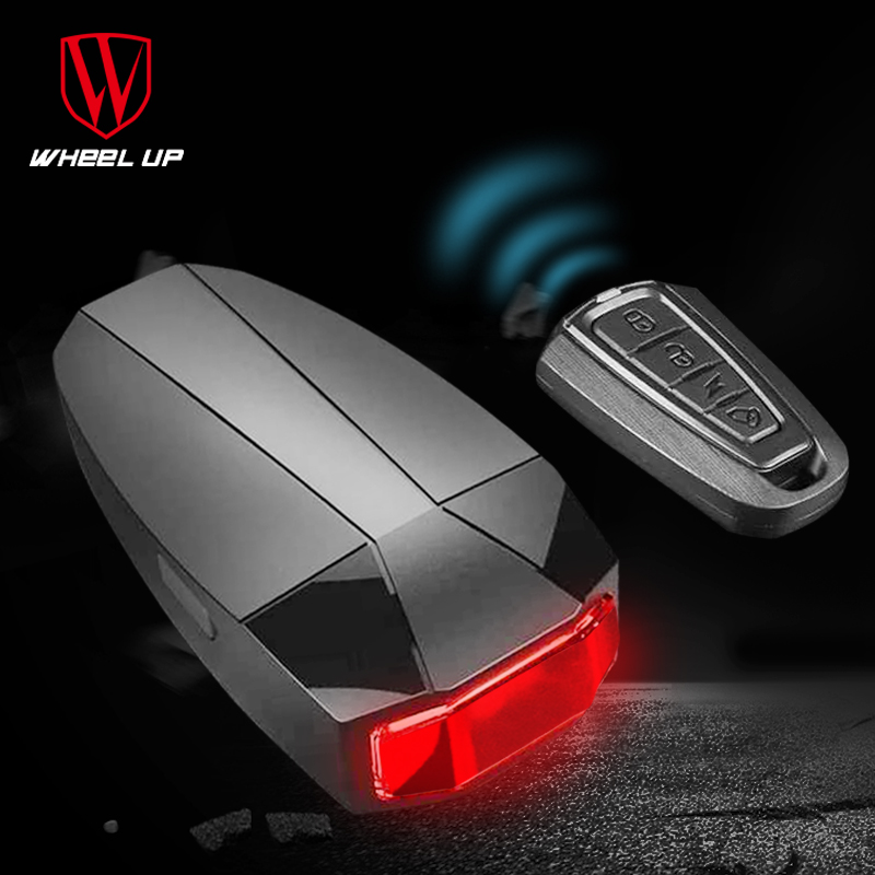 WHEEL UP Cycling Bike Light Taillight Anti-theft LED Bicycle Rear Tail Light USB Intelligent Sensor Remote Control Alarm Lamp
