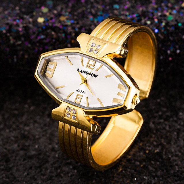 2018 Luxury Women Dress Bracelet Watch New Design Ladies Casual Rhinestone Wrist