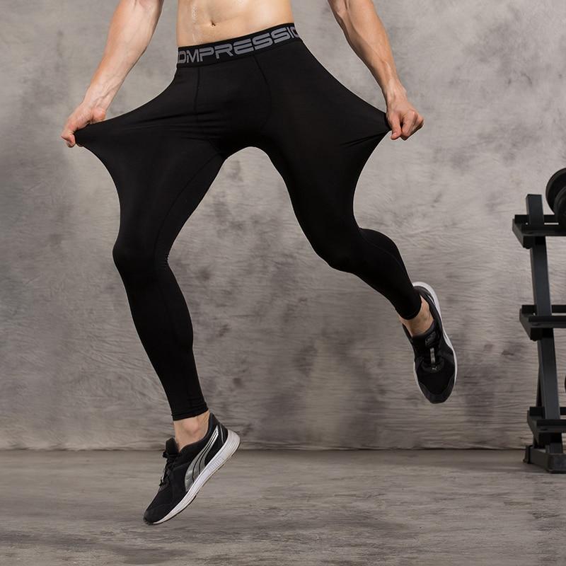 Prix pour Mens Compression Collants Pantalon de Course Jogging Jogger Exercice Fitness Bodybuilding Gym Athlétique pantalon long Spandex Séchage rapide