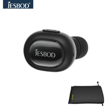 Jesbod QCY Q26 Mini Wireless Bluetooth Headset One-ear Earbuds Sport Driving Earphone with Mic for Xiaomi Iphone English Voice