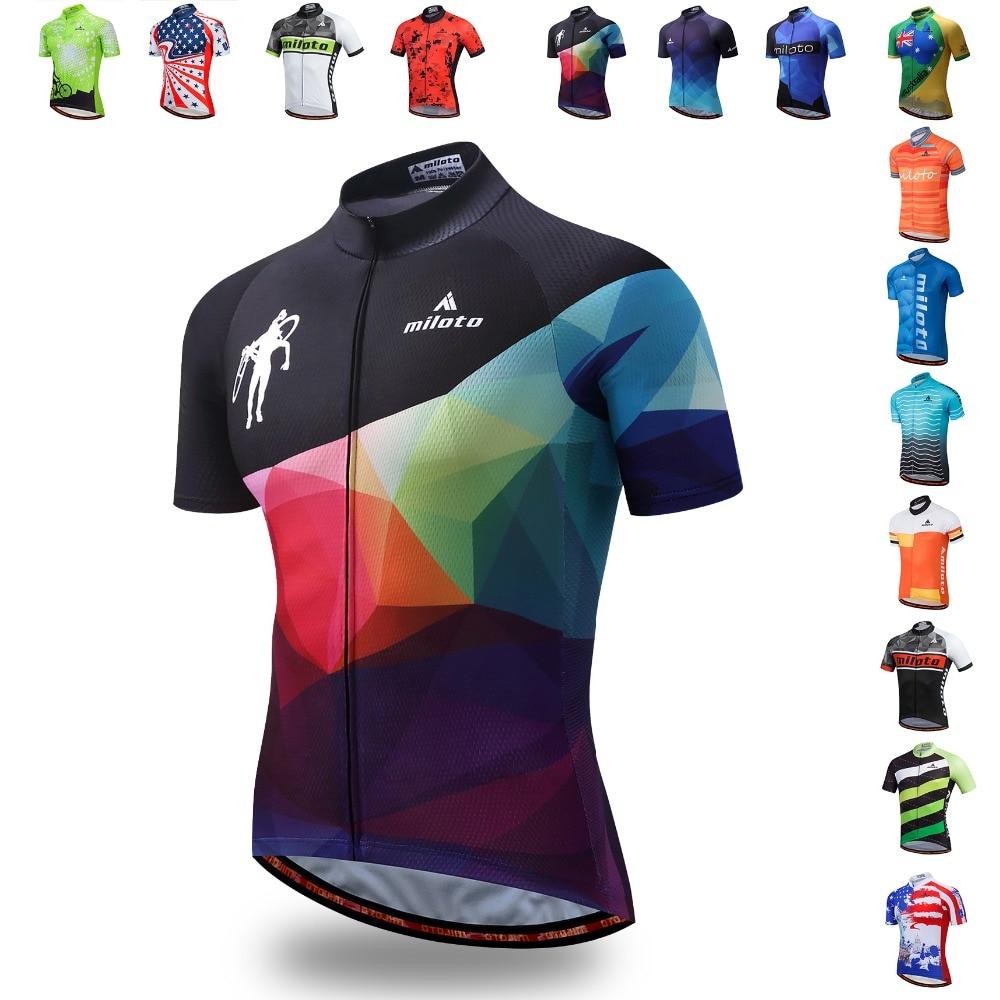 MILOTO Bike Jersey Shirt Cycling Clothing Short-Sleeve Maillot Ciclismo Racing Summer