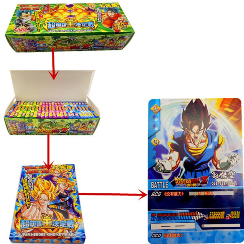 408pcs Dragon Ball Super Ultra Instinct Goku Action Toy Figures Commemorative Edition Game Collection Card Collection Cards