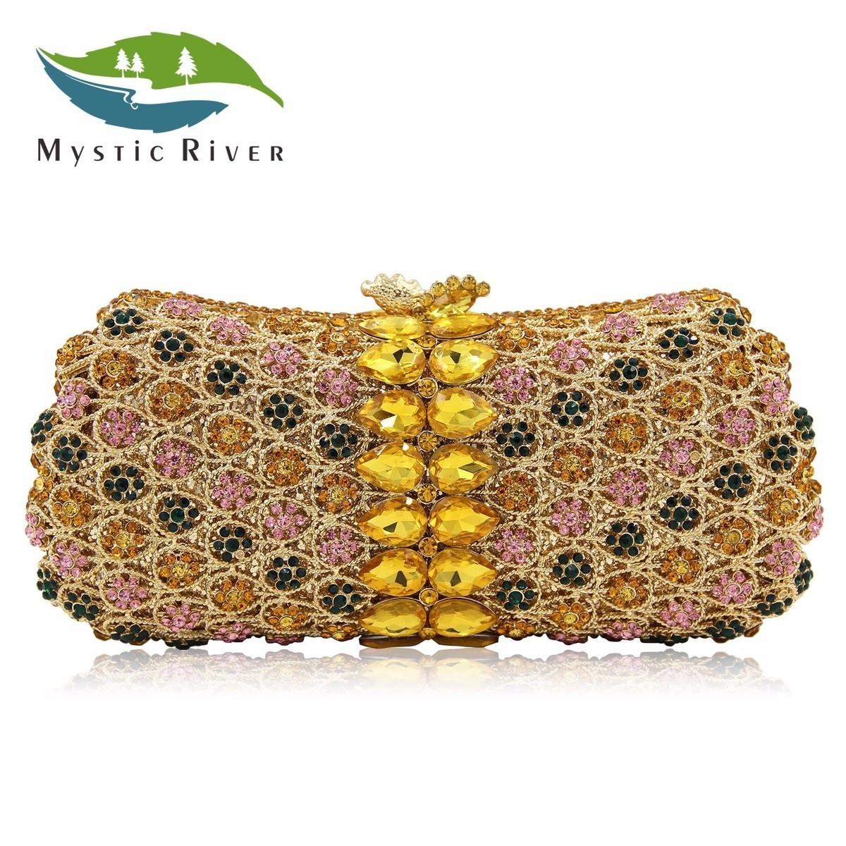 Mystic River New Design Crystal Party Bag Women Wedding Purse 4 Colors Different Diamonds Ladies Evening Bag Good Quality сумка river island river island ri004bwzyz56