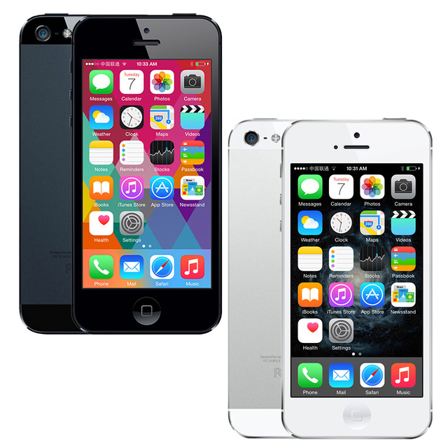 "Original Apple iPhone 5 Unlocked cell phone 16&32&64GB Dual-Core 1GHz 3G WIFI GPS 8MP 1080P 4.0"" IPS Free Shipping 1"