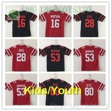 3886a36ae San Francisco A+ quality Kids youth Young jersey 16 Joe Montana Carlos Hyde  NaVorro Bowman Jimmy Garoppolo jersey