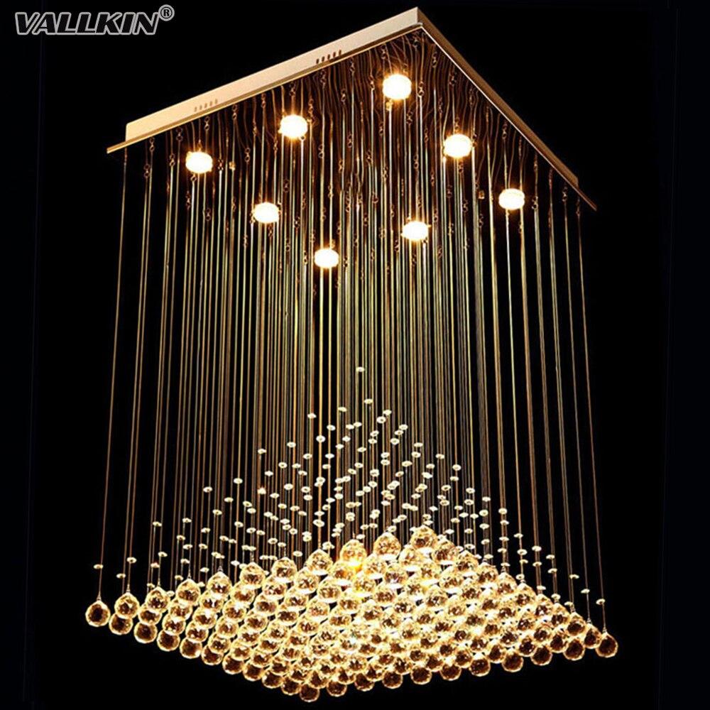 Square crystal chandeliers lighting for living room led for Wohnzimmerleuchten led modern