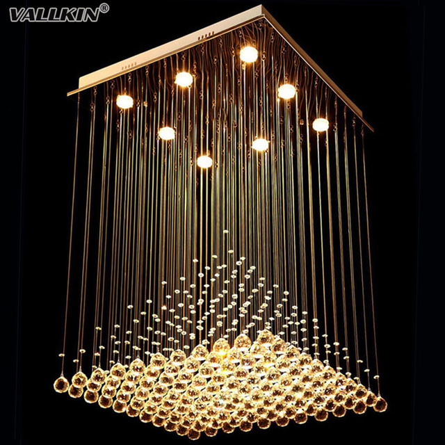 Square Crystal Chandeliers Lighting For Living Room LED Indoor ...