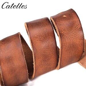 Image 3 - Catelles Male belt Cow strap male Genuine Leather vintage mens belts Pin Buckle Designer Belts For Men leather belt men 6010
