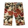 Плюс Размер Мода Повседневная Лето Цветочный Принт Мужчины Совет Шорты Пляж Шорты Белье